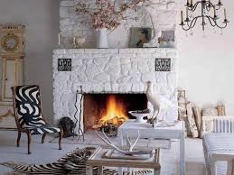 warm and cozy bedroom ideas stone fireplace painting ideas