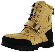 polo ralph lauren dover hi iii mens leather duck boots wheat