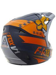 motocross helmet with visor fox orange 2020 v1 sayak mx helmet fox freestylextreme america