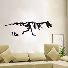 compare prices on dinosaur wall decals for kids rooms online black dinosaur wall sticker decoration for kids room decor diy wall decals posters stickers china