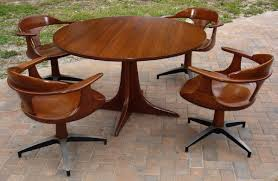 game table and chairs set heywood wakefield dining gaming table chairs set 1960s cliff house