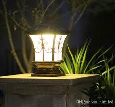 Outdoor Solar Post Light Fixtures 2018 Solar Post Lights Outdoor Post Lighting Landscaping Solar Led
