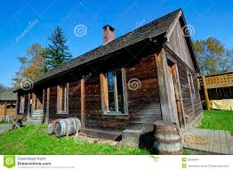 Canadian House Traditional Canadian Rural House From Old Times Stock Photo