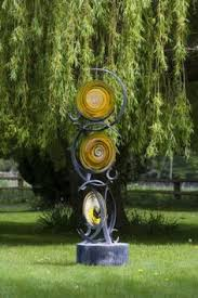 forged steel and blown glass garden or yard outside and outdoor