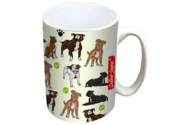 jayne staffy dogs mug and coaster gift set