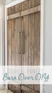 Sliding Barn Doors A Practical Solution For Large Or by Double Pantry Barn Door Diy Under 90 Bifold Pantry Door Diy