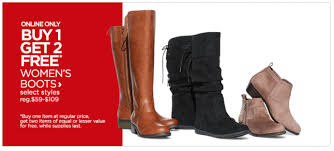womens boots jcpenney buy 1 get 2 free s boots at jcpenney freebies2deals