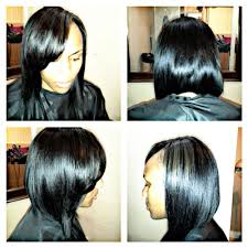 sew in bob with very little leave out yelp