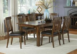 aamerica mariposa 7 piece dining table and slatback chairs set