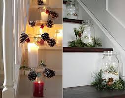 treppe dekorieren kerzen dekoideen für mehr romantik in den kalten wintertagen
