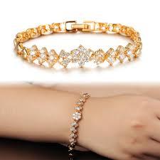 bracelet gold white gold images Opk new fashion gold color bracelets for women luxury white stones jpg