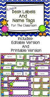Desk Name Tags by Editable Desk Labels And Name Tags Language Arts Math And