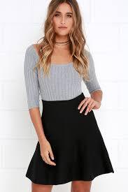sweater skirt sweater skirt skater skirt black skirt high waisted skirt