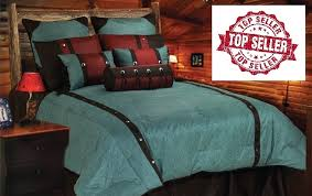 Turquoise And Brown Bedding Sets Cheyenne Turquoise Bedding Set Southern Creek Rustic Furnishings