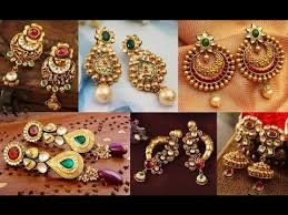 design of earrings gold earrings designs catalogue party wear jewellery