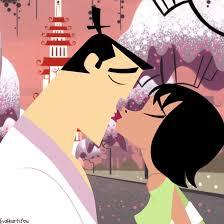 samurai jack the kiss of true love samurai jack and ashi by evaheartsyou on