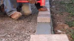 how to install concrete boarder for pavers all access 510 701