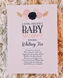 baby shower poems as a fox distance baby shower
