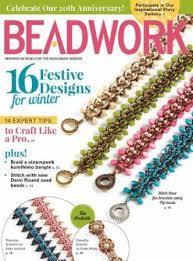 beadwork vol 20 1 2016 2017 bead magazine pinterest