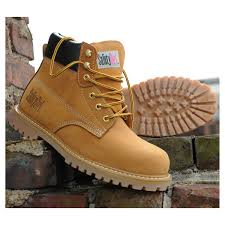 safety steel toe work boots tan