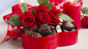 Flowers For Valentines Day Decorations Romantic Red Heart Box Of Chocolate Idea For