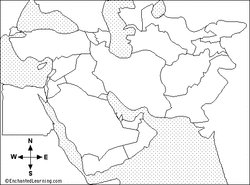 middle east map test islamic civilization