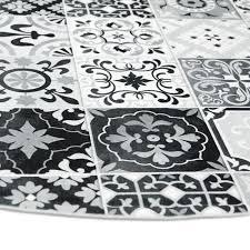 tapis cuisine noir tapis carreaux de ciments noir 90x90cm toodoo tapis cuisine