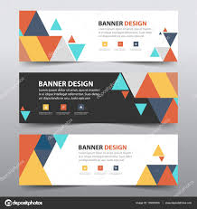 layout banner template colorful abstract triangle corporate business banner template