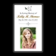 memorial card memorial card layout h topmemorial