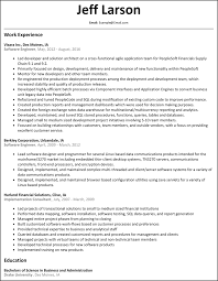 Software Developer Resume Resume Test Engineer Resume