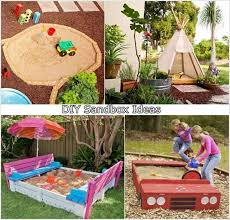 Backyard Sandbox Ideas 5 Cool Diy Sandbox Ideas For Your Kiddos