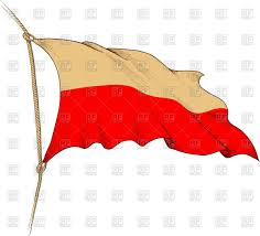 engraved old waving flag of poland vector clipart image 43118