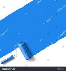 roller brush blue paint wall stock vector 204815104 shutterstock