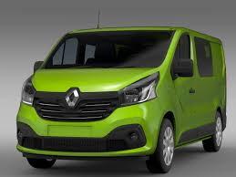renault trafic interior renault trafic combi 2015 by creator 3d 3docean
