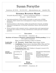 resume for college student college resume sle
