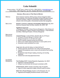 Sample Resume Objectives For Hotel And Restaurant Management by Excellent Culinary Resume Samples To Help You Approved