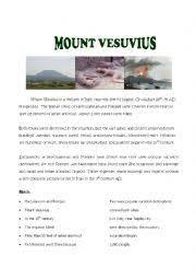 english teaching worksheets volcanoes
