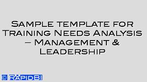 sample template tna for management u0026 leadership skills