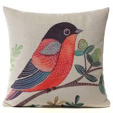 taie d oreiller pour canapé tempsa housse coussin motif oiseau taie d oreiller pour canapé