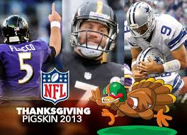 what times are the thanksgiving football when and where to