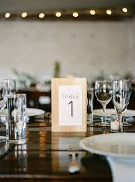 modern table numbers modern bohemian portland wedding ruffled
