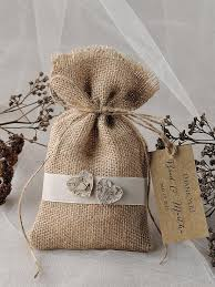 burlap gift bags rustic wedding favor bag birch bark wedding favor 2217970