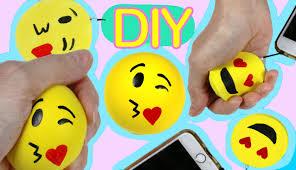squishy foam and stress ball emoji with a balloon easy diy