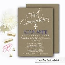 1st Holy Communion Invitation Cards First Communion Invitation Boys First Communion Invitation