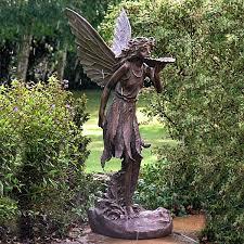 10 best garden ornaments fairies cherubs images on