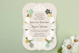 minted wedding invitations floral frame wedding invitations by alethea and ru minted