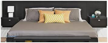 king headboard with attached nightstands throughout storage