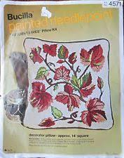 bucilla needlepoint kit butterfly floral wreath pillow 4635 14x14