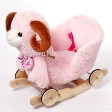 siege a bascule bebe kingtoy en peluche bébé bascule moutons chaise enfants balançoire en