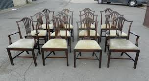 Antique Dining Chairs Antique Furniture Warehouse Set Of Twelve Georgian Hepplewhite